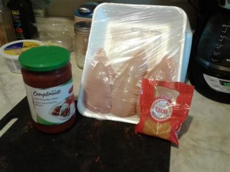 Cheesy Salsa Chicken ingredients