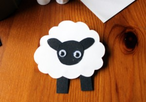 Cardstock Sheep Badge - allow the glue to dry thoroughly