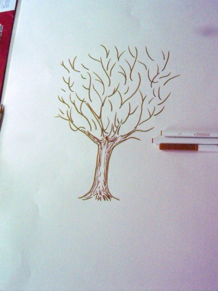 Fingerprint Guest Book Picture - add side branches