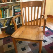 Value of a Murphy Chair - oak slat back chair with arms