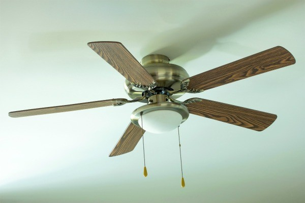 Refurbishing a ceiling fan thriftyfun ceiling fan with faux wood blades aloadofball Image collections