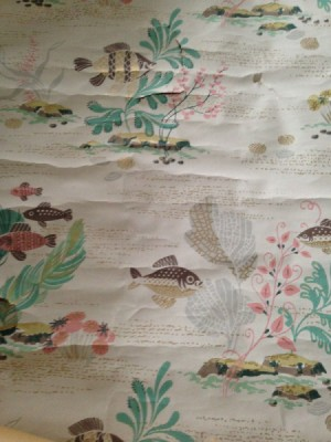 Information on Old Imperial  Wallpaper -  muted tone design with fish and aquatic plants
