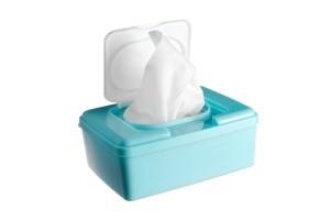 Plastic wipes box.