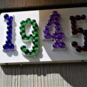 House Address Sign Using Glass Nuggets - finished house number sign