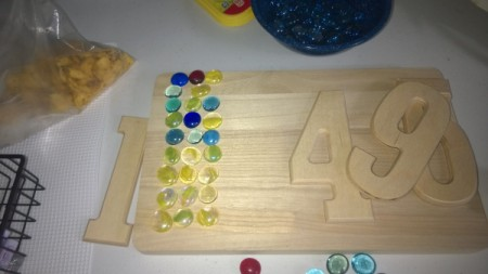 House Address Sign Using Glass Nuggets - supplies