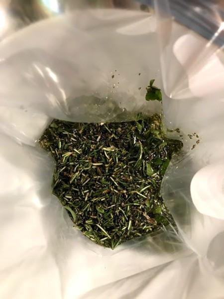 herbs in bag