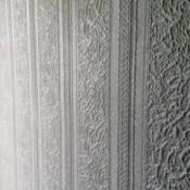 Identifying Anaglypta Wallpaper   - white vertical striped wallpaper
