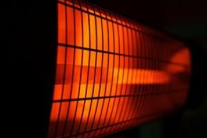 Closeup of an infrared heater