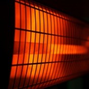 Closeup of an infrared heater