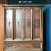 Value of Broyhill Dressers - dresser with two doors concealing inside drawer and two visible drawers at the bottom