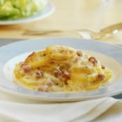 Scalloped Potatoes and Ham.