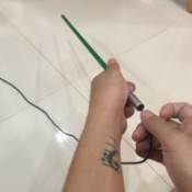 How to Fix a Tent Pole - threading the elastic through the pole sections