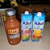 A selection of juices and drinks purchased at the Dollar Tree