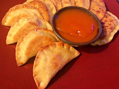 Crispy Puffs with sauce