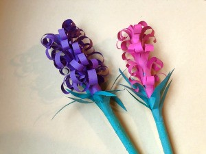 Paper Hyacinths - two finished flowers