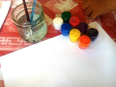 Blow Painting - supplies