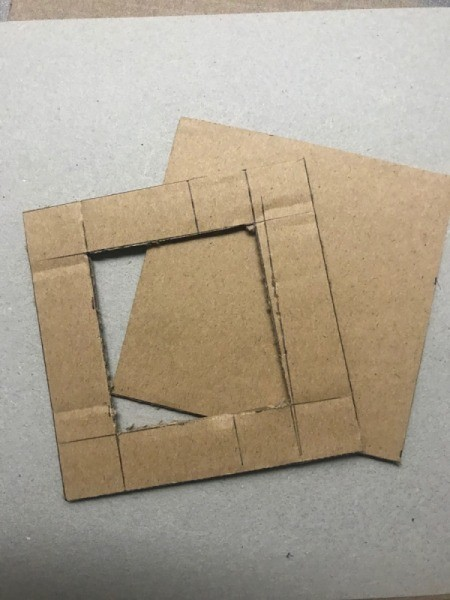 Picture Frame Magnet - cut out with the X-acto knife
