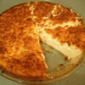 cut Gluten Free Coconut Pie