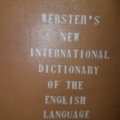Value of a Webster's Dictionary