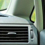 Heater vent in a vehicle.