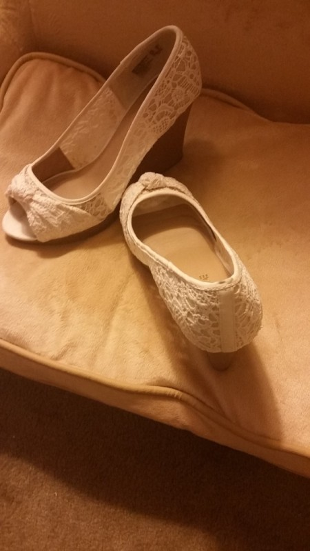 Removing an Oil Stain on Crocheted White Lace Shoes