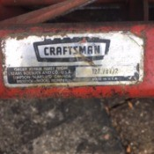 Manual for Old Craftsman Reel Mower  - label on mower