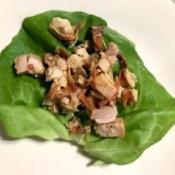 filling on Lettuce leaf
