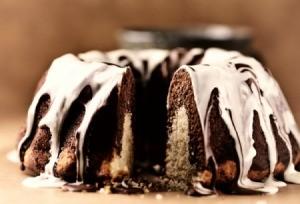 Marbled Chocolate and white Chocolate cake
