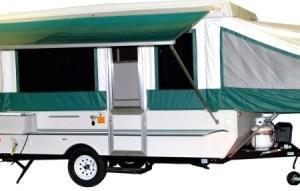 Pop-up tent trailer.