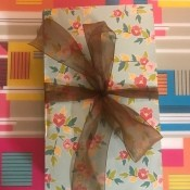 Gift Book Filled with Goodies - finished gift box