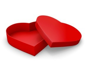 Red heart box.