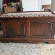 Value of a Murphy Cedar Chest  - chest with a padded seat on top