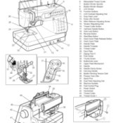 Removing the Upper Feed  Mechanism on a Janome - manual page