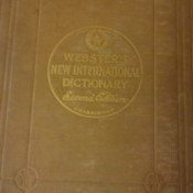 Value of a 1949 Webster's Dictionary Set - front cover