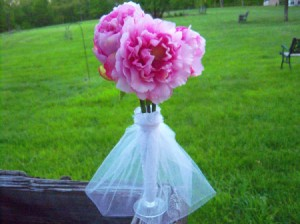 Bridal Dress Flower Vases - closeup of finished vase