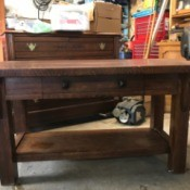 Value of a Mersman Library Table - table in garage