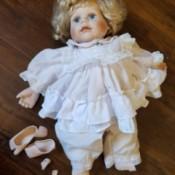 Identifying a Porcelain Doll - broken doll