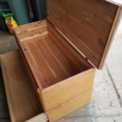 Getting a Key for a Murphy Cedar Chest - cedar chest with a bottom drawer