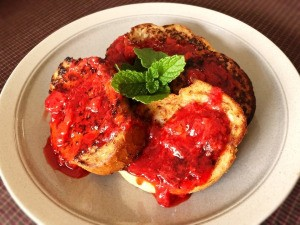 Vegan French Toast with Strawberry Compote