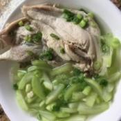 Opo Squash Chicken Soup