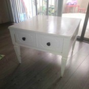Value of a Mersman Table - white end table with single drawer