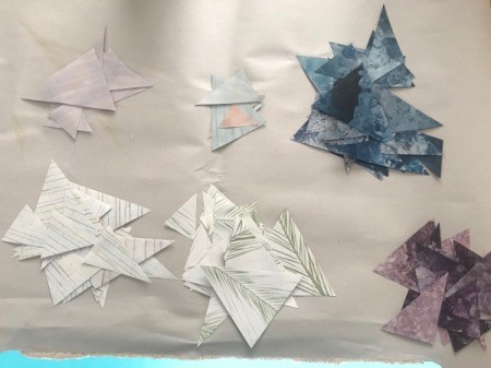 Up-cycled Clipboard - paper triangles