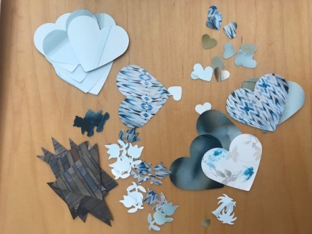 Making Confetti from Magazines and Shopping Catalogs