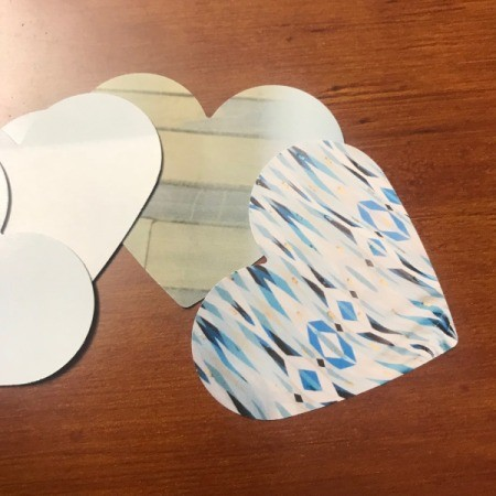 Making Confetti from Magazines and Shopping Catalogs - heart shape pieces