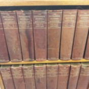 Value of Eleventh Edition  Encyclopaedia Britannica - books on shelves