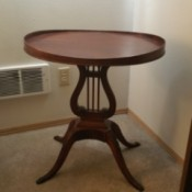 Value of a Mersman Lyre Lamp Table - vintage end table