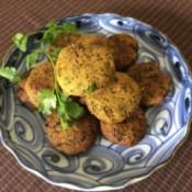 Herb Falafel on plate