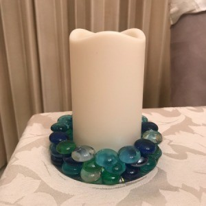Recycled CD Candle Holder