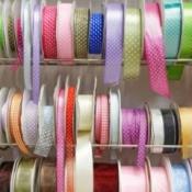 Man spools of grosgrain ribbons