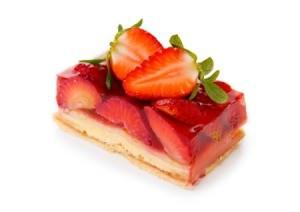 Strawberry Gelatin Dessert.